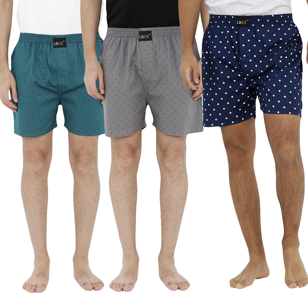 London bee men's boxer combo pack of 3 MLBCP30058