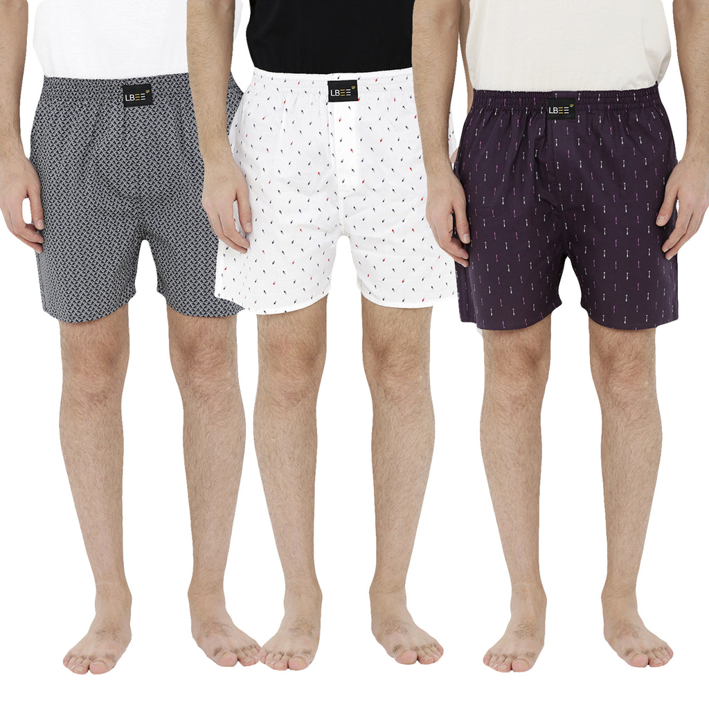 London bee men's boxer combo pack of 3 MLBCP30059