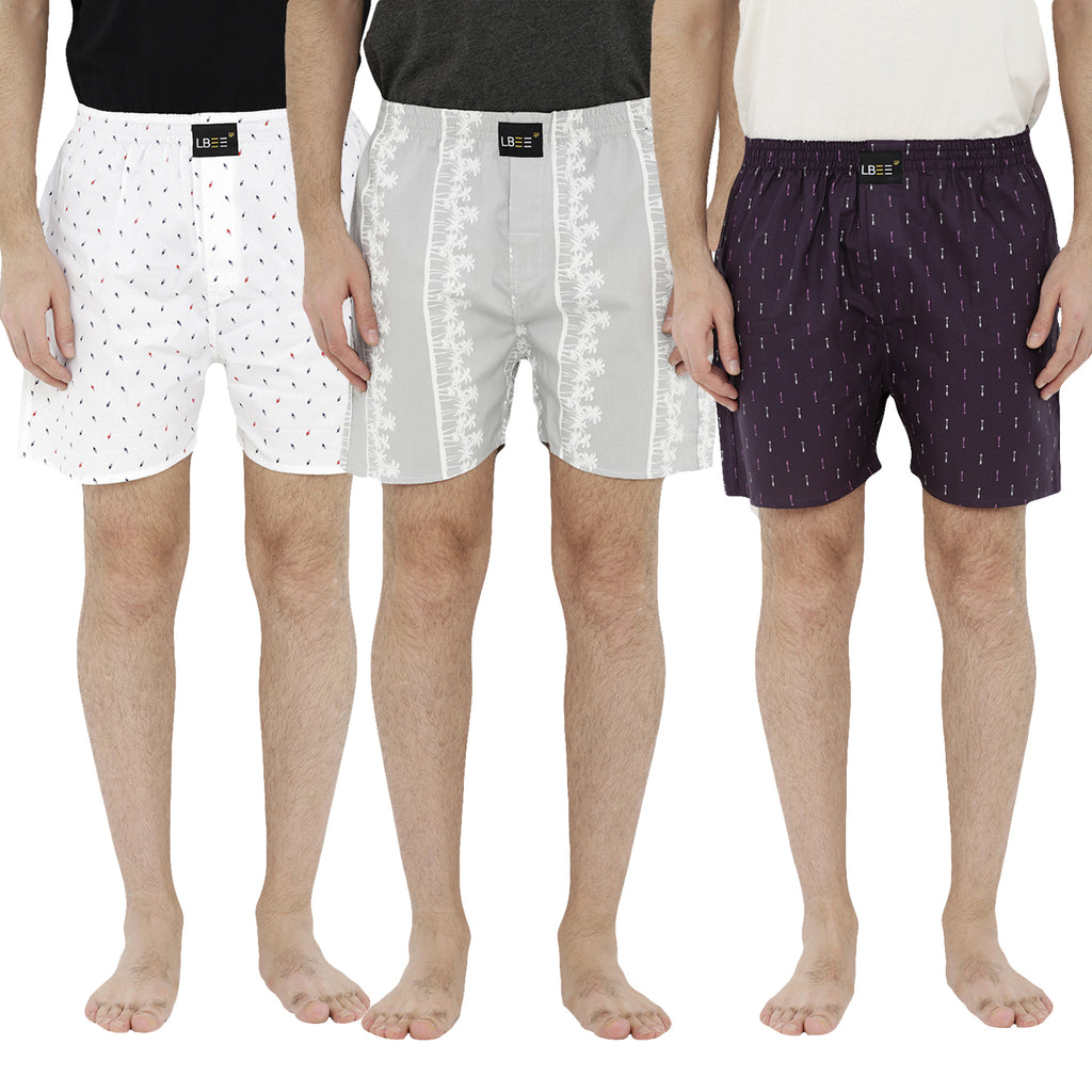 London bee men's boxer combo pack of 3 MLBCP30063