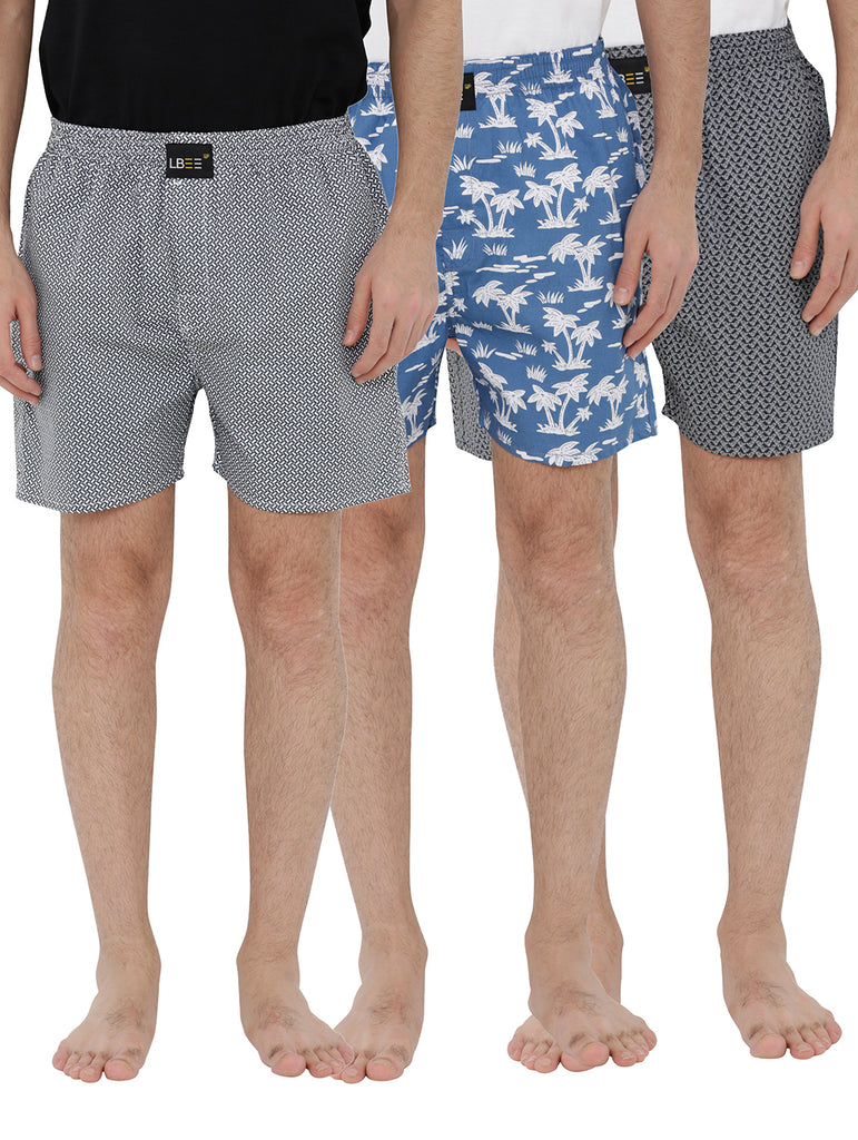 London bee men's boxer combo pack of 3 MLBCP30067
