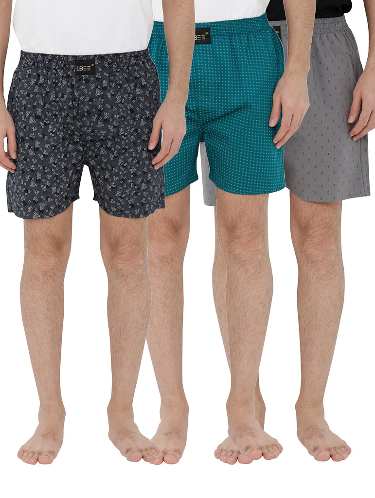 London bee men's boxer combo pack of 3 MLBCP30070
