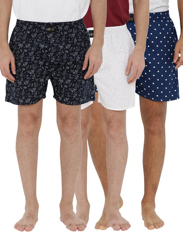 London bee men's boxer combo pack of 3 MLBCP30071