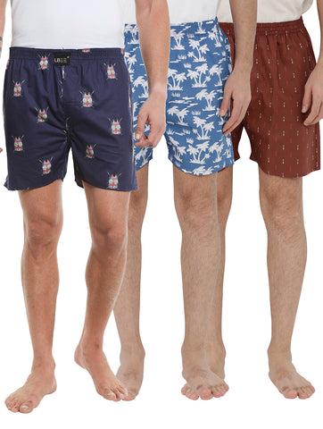 London bee men's boxer combo pack of 3 MLBCP30073