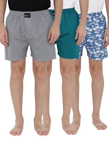 London bee men's boxer combo pack of 3 MLBCP30081