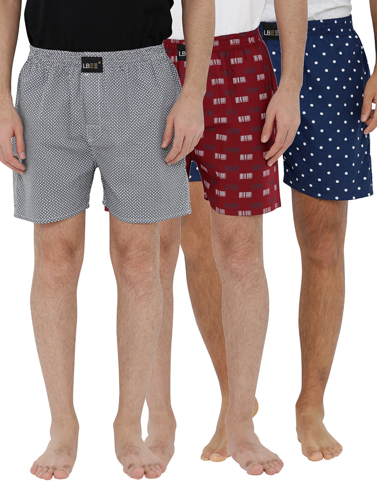 London bee men's boxer combo pack of 3 MLBCP30083