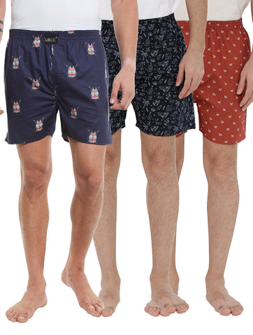 London bee men's boxer combo pack of 3 MLBCP30085
