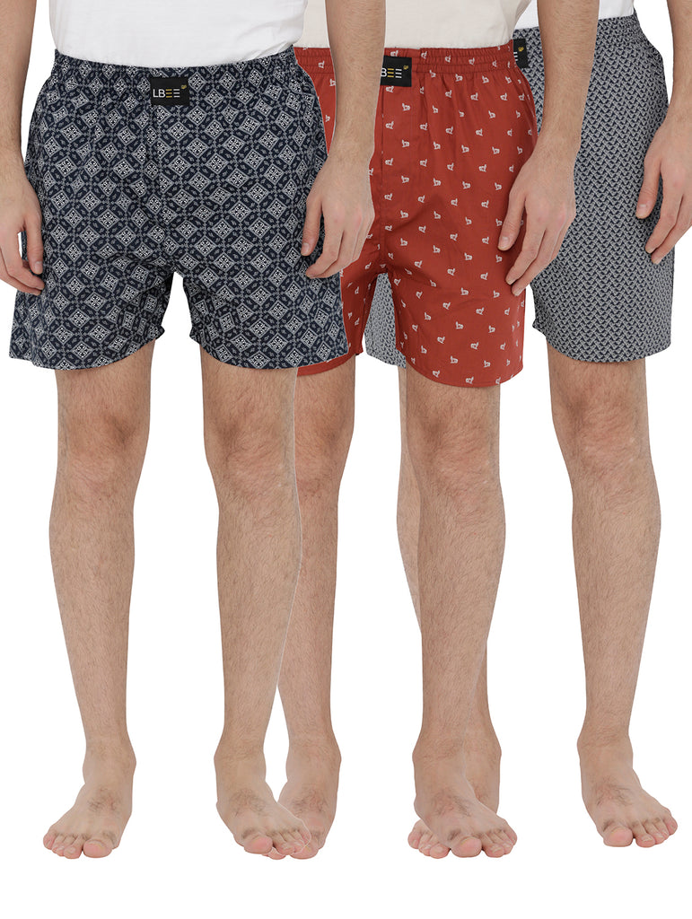London bee men's boxer combo pack of 3 MLBCP30086