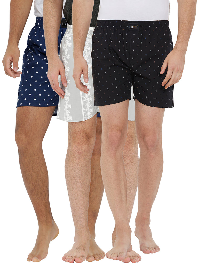London bee men's boxer combo pack of 3 MLBCP30093