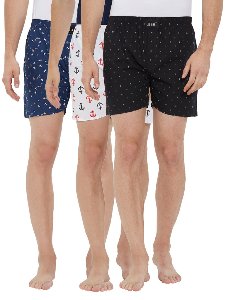 London bee men's boxer combo pack of 3 MLBCP30095