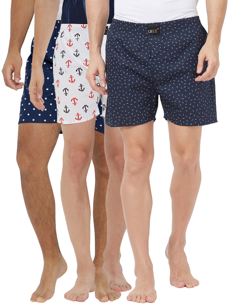 London bee men's boxer combo pack of 3 MLBCP30100