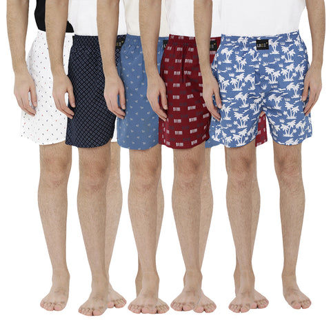London bee men's boxer combo pack of 5 MLBCP50030