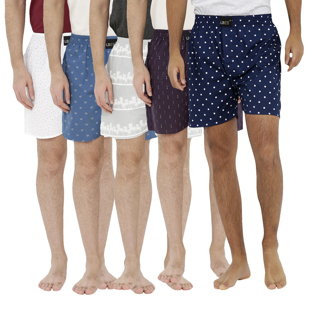 London bee men's boxer combo pack of 5 MLBCP50034