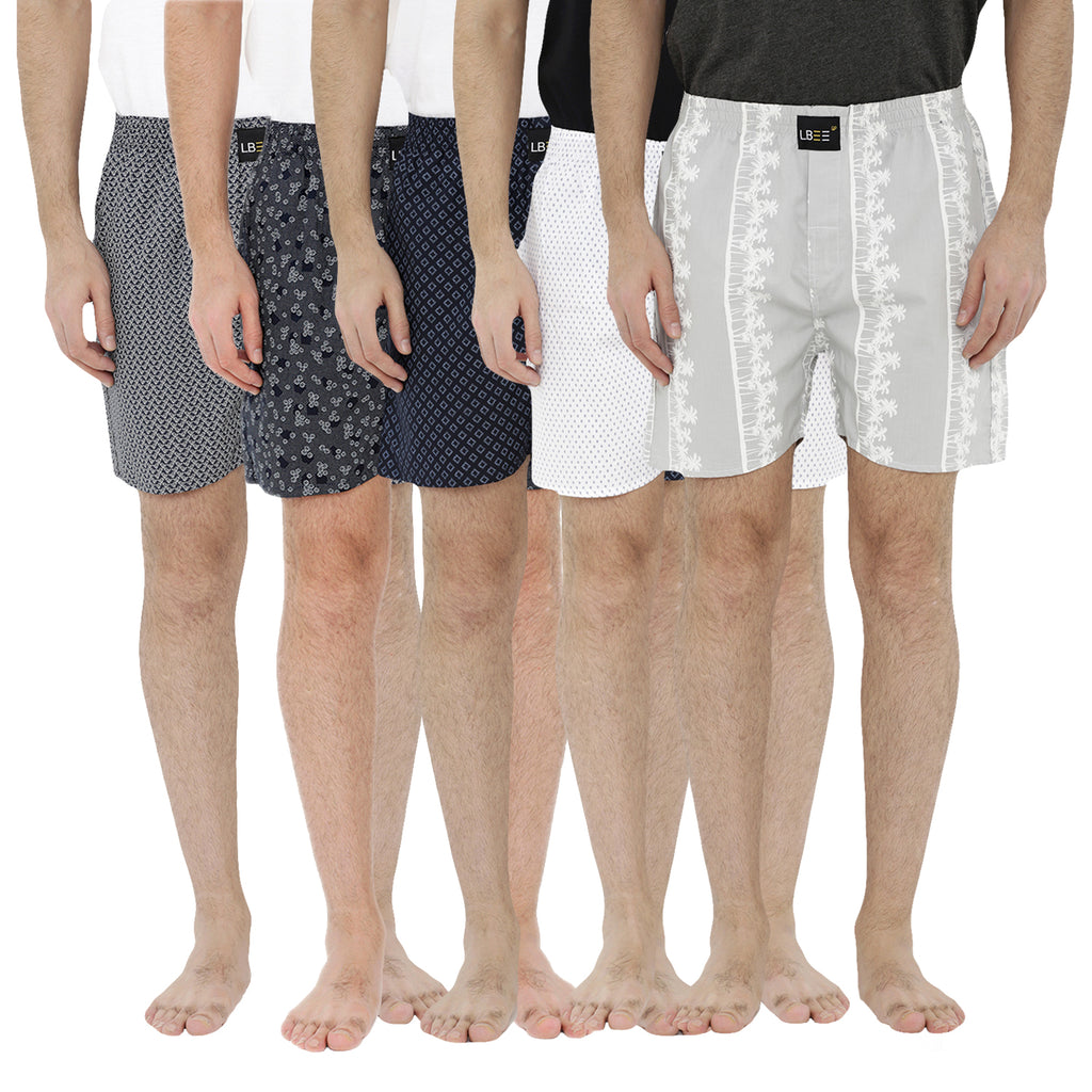 London bee men's boxer combo pack of 5 MLBCP50036
