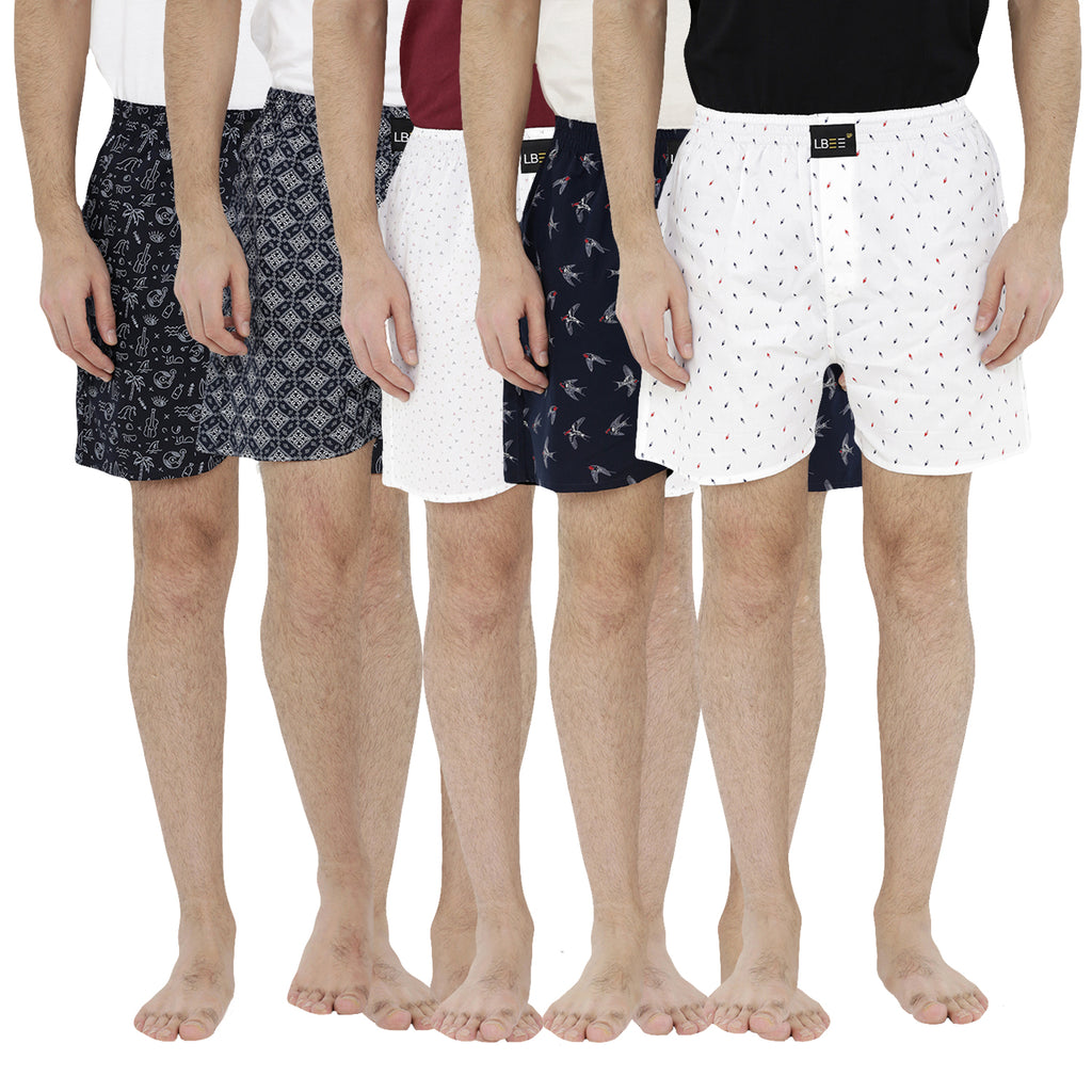 London bee men's boxer combo pack of 5 MLBCP50037