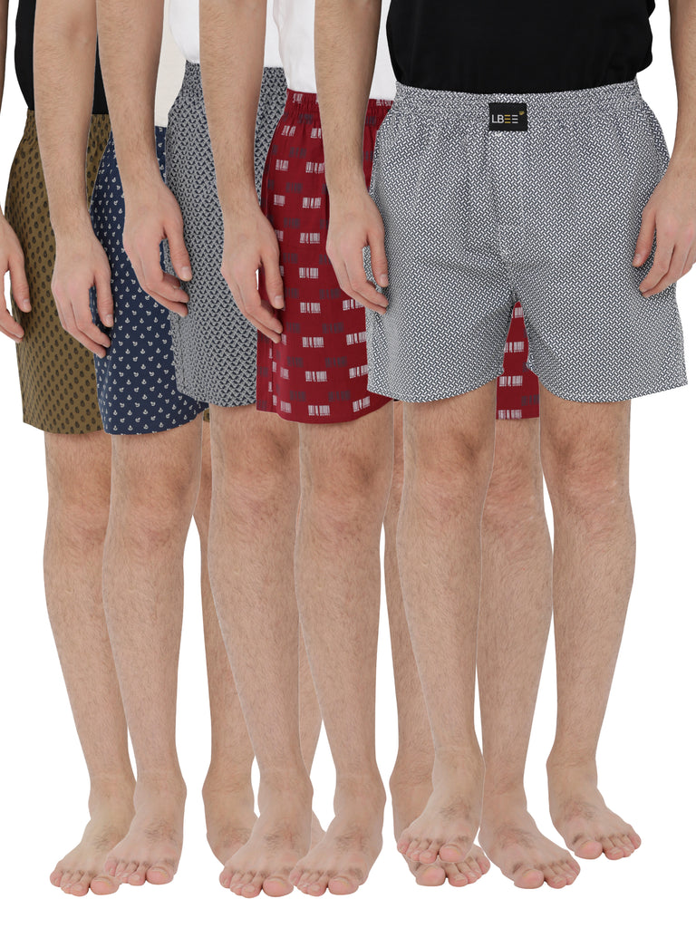 London bee men's boxer combo pack of 5 MLBCP50040