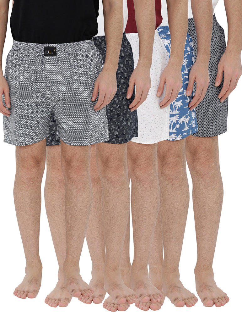 London bee men's boxer combo pack of 5 MLBCP50043