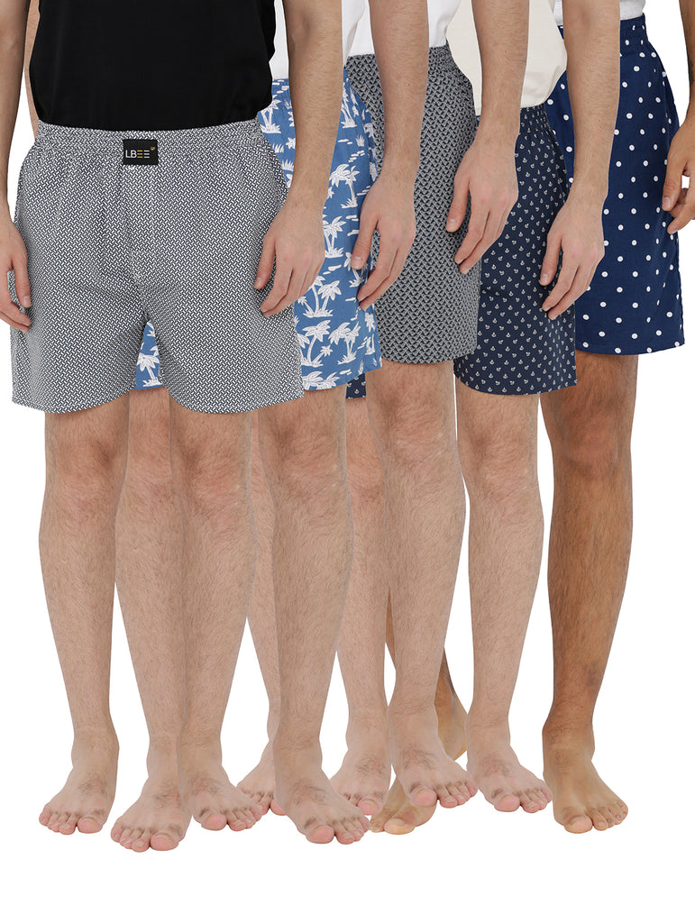 London bee men's boxer combo pack of 5 MLBCP50047