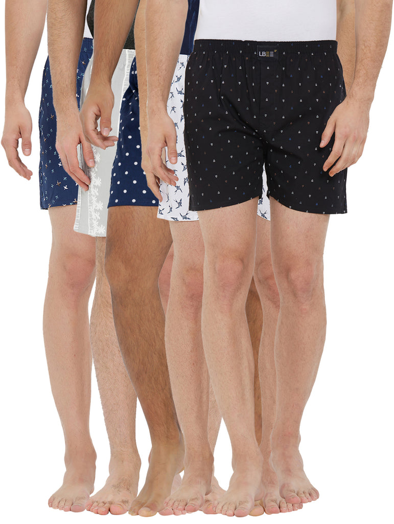 London bee men's boxer combo pack of 5 MLBCP50051
