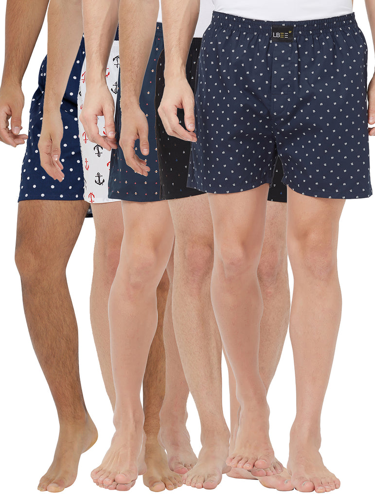 London bee men's boxer combo pack of 5 MLBCP50052