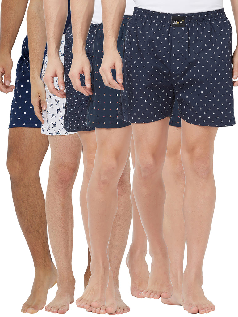 London bee men's boxer combo pack of 5 MLBCP50055