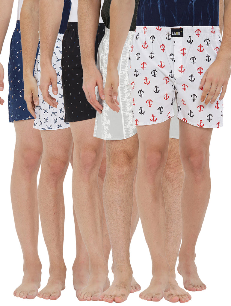 London bee men's boxer combo pack of 5 MLBCP50056