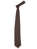 London Bee Men's Brown Jacquard Formal Tie