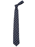 London Bee Men's Navy Blue Jacquard Formal Tie