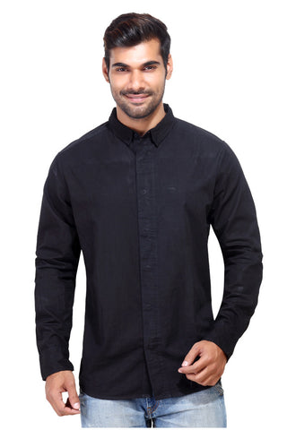 London Bee Men's Black Long Sleeve Shirt MLSLB0001