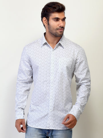 London Bee Men's White Long Sleeve Shirt MLSLB0008