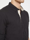 London Bee Men's Solid Cotton Long Sleeve Regular Fit Shirt MLSLB0152