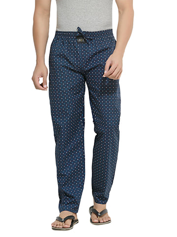 London Bee Men's Navy Blue Cotton Printed Pyjama MPLB0049