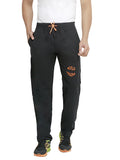 London Bee Men's Black Cotton Trackpant