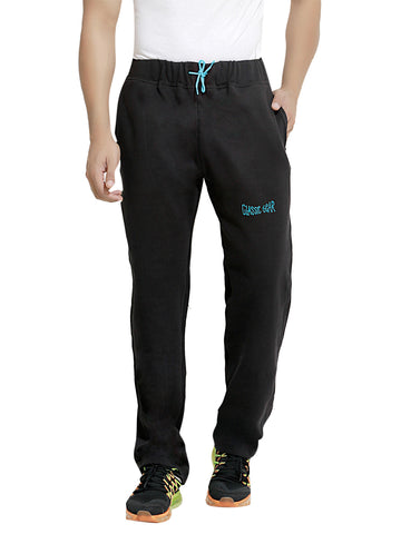 London Bee Men's Black Cotton Trackpant MTLB0009
