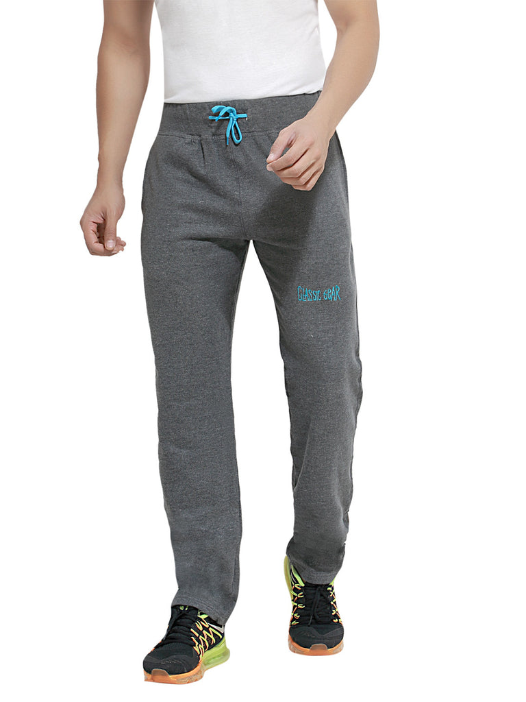 London Bee Men's Grey Cotton Trackpant