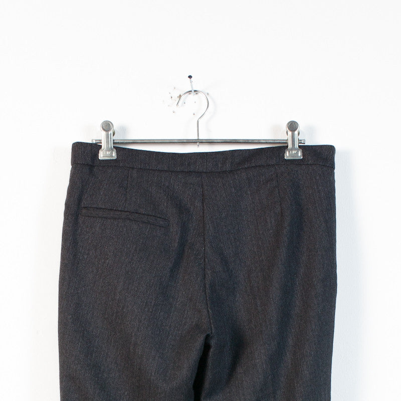 gray wool wrap trouser