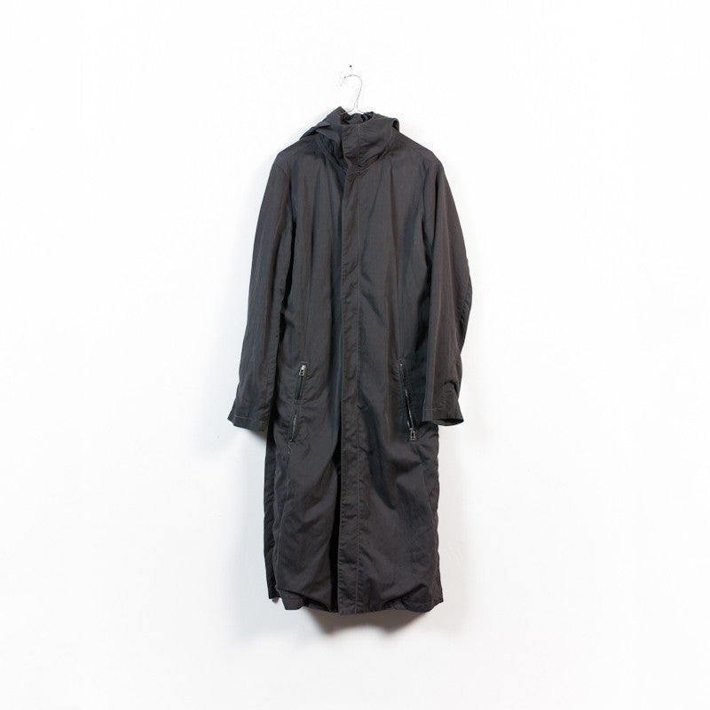 high neck hooded parka