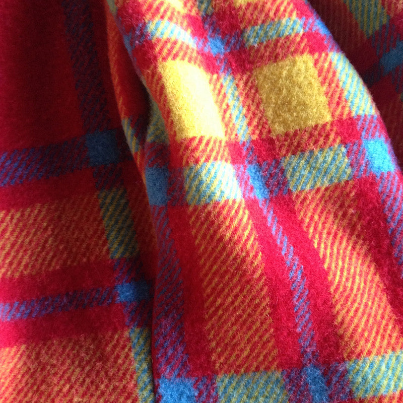 multicolour blanket skirt