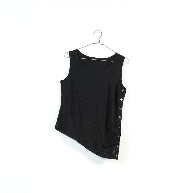 asymmetrical pocket blouse