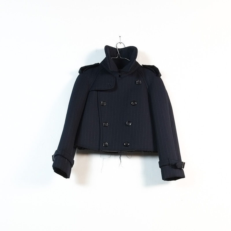 padded batting peacoat