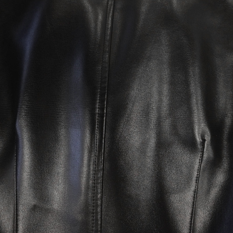 vinyl leather blazer