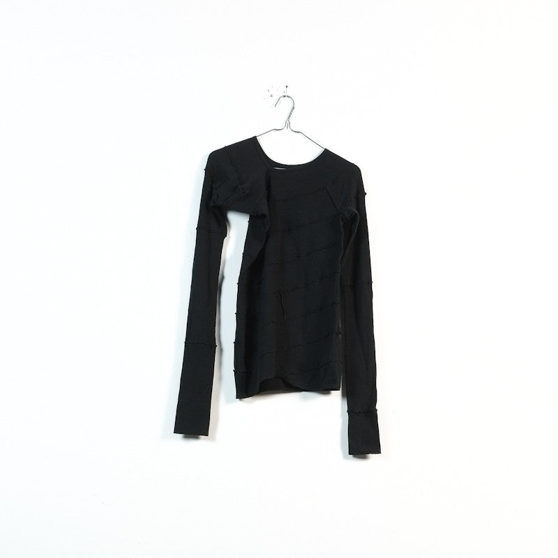 asymmetrical ribbed longsleeve