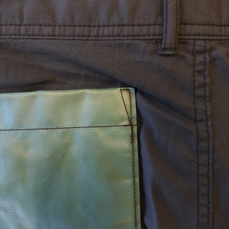 vinyl pocket trousers