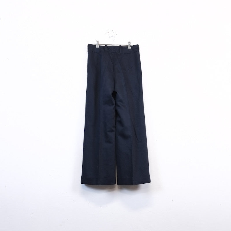 waist flap wide trousers