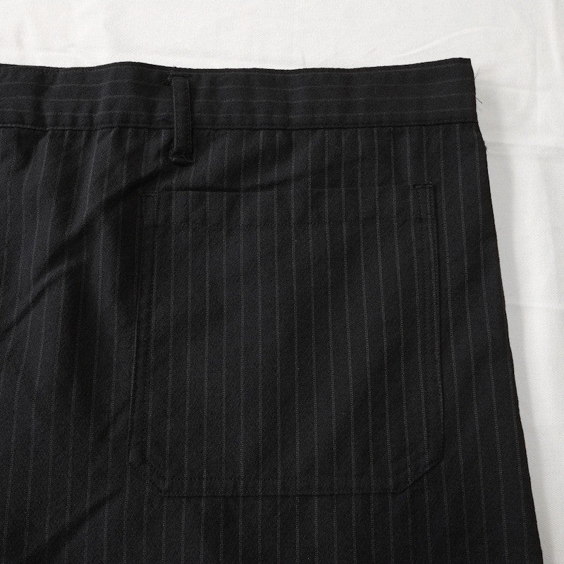 belted pinstripe wide trousers