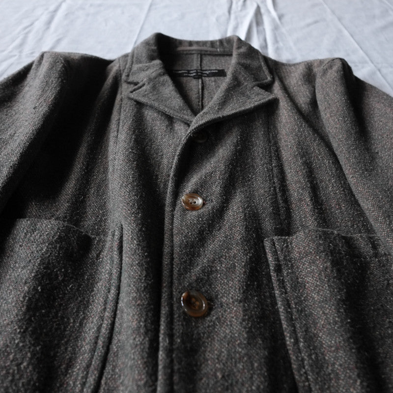 tweed high pocket coat