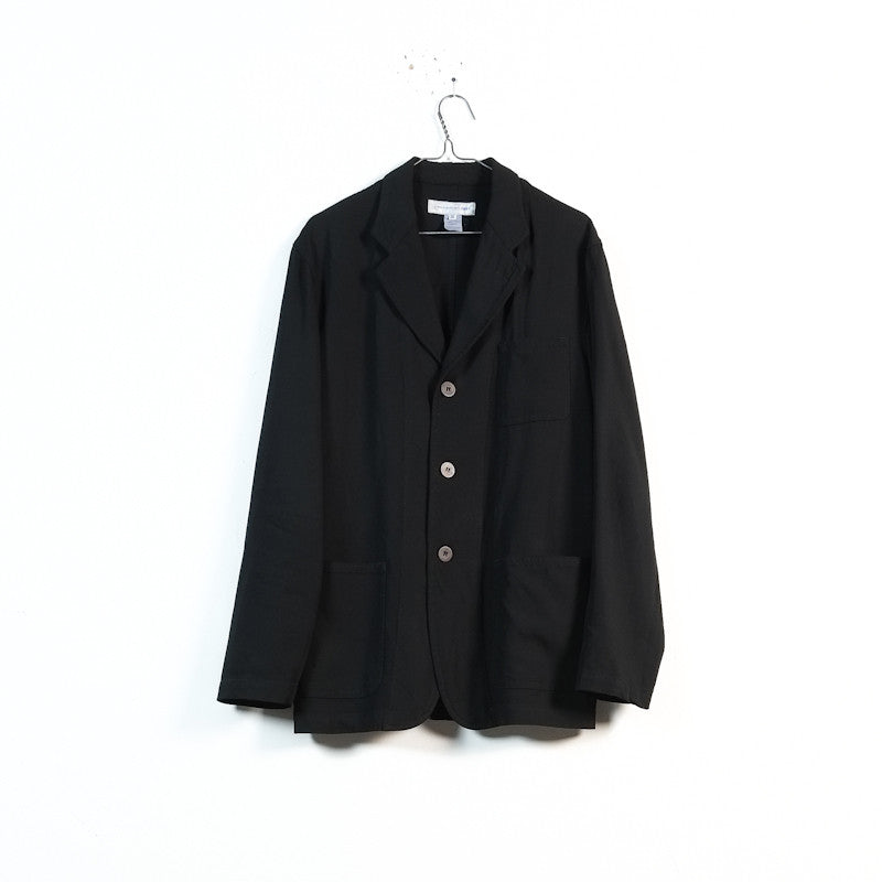 unlined three button blazer