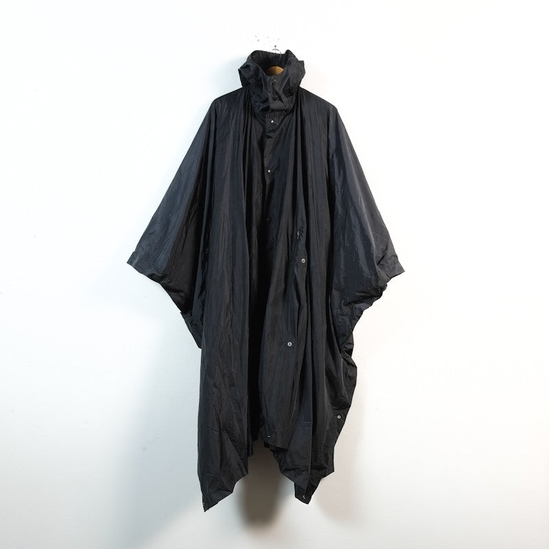 hooded poncho coat