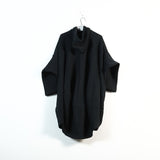 hooded cocoon coat