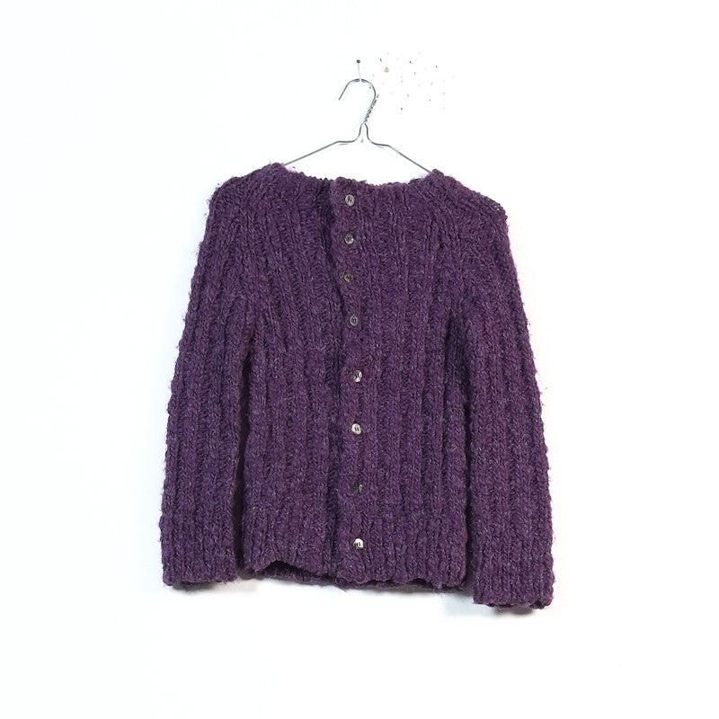 heavy wool high neck cardigan