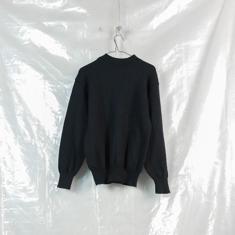 high neck army jumper
